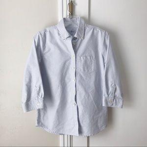 L. L. Bean | Blue and White Stripe Oxford Shirt